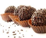 2 chokladtryfflar Fotografering för Bildbyråer