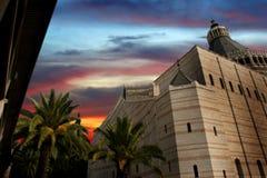 2 christ nazareth tempel Arkivbilder