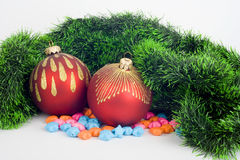 2 christmas bauble Royalty Free Stock Image