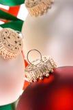 2 christmas ornaments white Στοκ Εικόνες