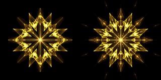 2 christmas set stars Стоковое Изображение