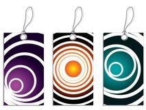 2 cirklar svalnar etiketter Royaltyfria Foton