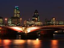 2 city london night scene Στοκ Εικόνες