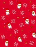 2 claus tileable santa Royaltyfria Bilder