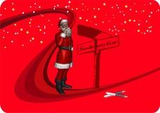 2 Claus tutaj byli Santa Zdjęcie Stock