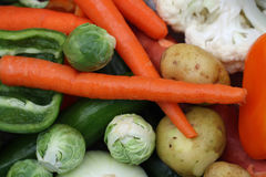 #2 - Cleaned and colorful fresh vegetables Stock Images
