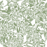 2 Color Bloom. Green and white seamless tile pattern, vector Royalty Free Stock Photo