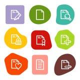 2 colour dokumentu ikon serie ustawiająca punktów sieć ilustracja wektor