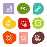 2 colour ikon wizerunku serii ustawiają punktów widza sieć ilustracji