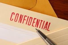 2 confidencial περιεκτικότητες Στοκ φωτογραφία με δικαίωμα ελεύθερης χρήσης