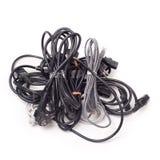 2 cordons de câbles Photographie stock