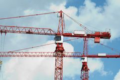 2 crane ' a Fotografia Stock