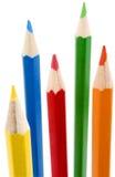 2 crayons neufs de couleur Photographie stock