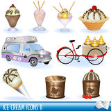 2 creams иконы льда Стоковая Фотография