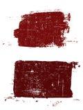 2 cuadrados de Grunged Fotos de archivo