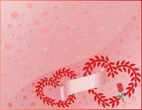 2 cuori del biglietto di S. Valentino Fotografia Stock