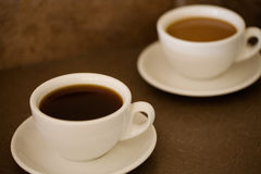 2 cups of coffee Stock Images