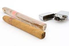 2 cygarowa cygar zapalniczka Obrazy Royalty Free