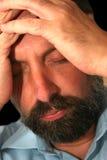 2 człowiek przygnębiony Fotografia Stock
