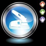 2 czarny chromu dziury ikon poncz Obraz Stock