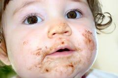 2 czekoladowa twarz Obraz Royalty Free