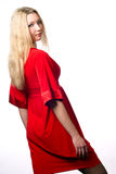 2 czerwieni kobieta Zdjęcia Royalty Free