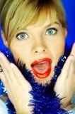 2 czerwone usta Fotografia Stock