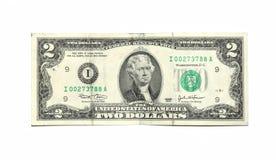 2 dólares Fotografia de Stock Royalty Free