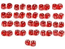 2 dadi - tutte le combinazioni illustrazione vettoriale