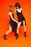 2 dancingowego nastolatków Zdjęcie Stock