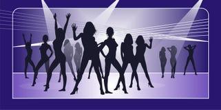 2 dancingowy przyjęcie Royalty Ilustracja