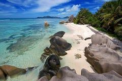 2 dargent seychelles för anse källa Arkivfoton