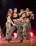 - 2 DE ABRIL: Grupo Belka del baile Imágenes de archivo libres de regalías
