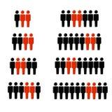 2 de cada estatística figura Imagem de Stock