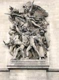 2 de Paris triomphe łuków Zdjęcia Royalty Free