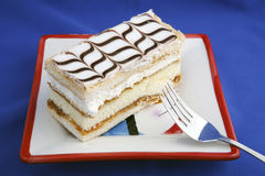2 de stukken van de cake in plaat Royalty-vrije Stock Fotografie