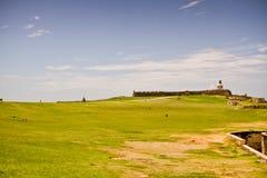 2 del felipe堡垒morro波多里哥圣 库存图片