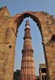 2 Delhi ind minar qutub Zdjęcie Stock