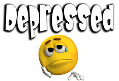 2 deprimidos stock de ilustración