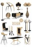 2 designsilhouettes Royaltyfri Fotografi
