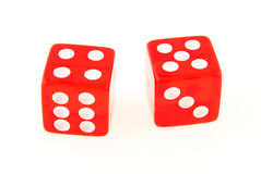 2 Dice close up - showing the numbers 4 and 5 Stock Images