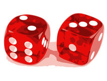 2 dice showing 2 and 3 Stock Photography