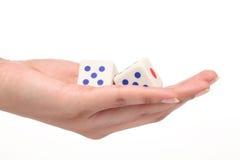 2 dices в руке Стоковое Изображение RF