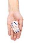 2 dices в руке Стоковое Изображение