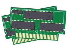 2 digital memory devices Stock Images