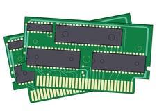 2 dispositivos de memoria digitales Imagenes de archivo