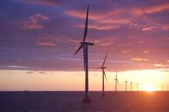 2 dk паркуют ветер захода солнца roedsand Стоковое Изображение RF