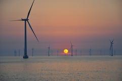 2 dk паркуют ветер захода солнца roedsand Стоковые Фото