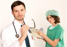 2 doktorska medyczna pielęgniarka Fotografia Stock