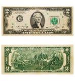 2 dolara Zdjęcia Stock